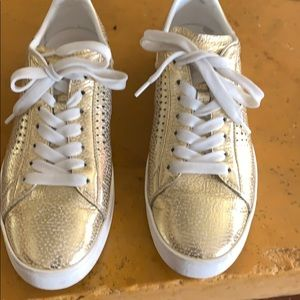 Tod's Leather Gold Sneakers Woman 36.5